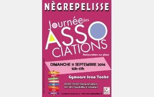 Journée des associations de Nègrepelisse le 11/09/16 au Gymnase Jean TACHE